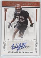 Rookie Signatures - William Jackson III #15/49