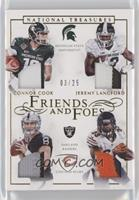 Connor Cook, Jeremy Langford #/25
