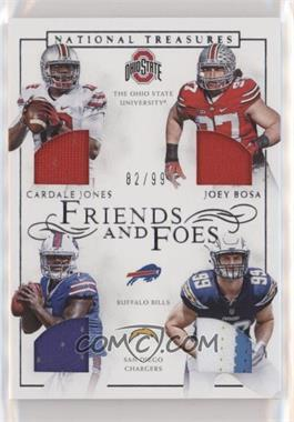 2016 Panini National Treasures - Friends and Foes Quad #29 - Cardale Jones, Joey Bosa /99