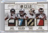 Julio Jones, Kelvin Benjamin, Brandin Cooks, Mike Evans #/25