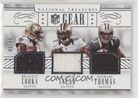 Willie Snead, Brandin Cooks, Michael Thomas /45