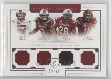 2016 Panini National Treasures Collegiate - Team Quads #17 - Connor Shaw, Jadeveon Clowney, Mike Davis, Pharoh Cooper /99