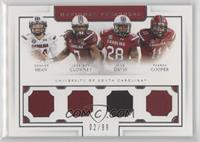 Connor Shaw, Mike Davis, Jadeveon Clowney, Pharoh Cooper /99