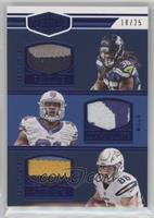 Alex Collins, Hunter Henry, Jonathan Williams /25