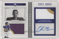 Rookie Playbook Jersey Autographs - Chris Moore [Noted] #/49