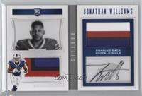 Rookie Playbook Jersey Autographs - Jonathan Williams #/49