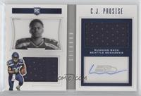 Rookie Playbook Jersey Autographs - C.J. Prosise /199