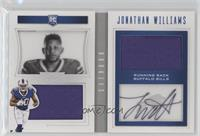 Rookie Playbook Jersey Autographs - Jonathan Williams /199