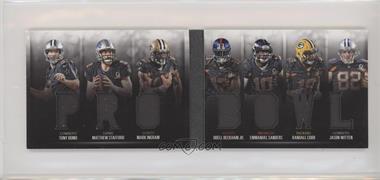 2016 Panini Preferred - Memorabilia Die-Cut Booklets Pro Bowl #3 - Mark Ingram, Randall Cobb, Tony Romo, Emmanuel Sanders, Jason Witten, Matthew Stafford, Odell Beckham Jr. /99