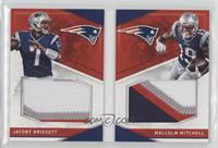 Malcolm Mitchell, Jacoby Brissett #/25