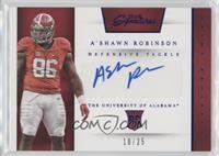 Prime Prospects Signatures - A'Shawn Robinson /25