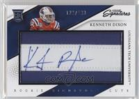 Rookie Signature Cuts - Kenneth Dixon /199