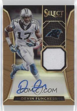 2016 Panini Select - Autographed Materials - Copper Prizm #AM-DF - Devin Funchess /25