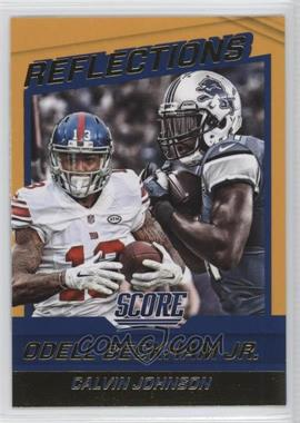 2016 Score - Reflections - Gold #11 - Calvin Johnson, Odell Beckham Jr.