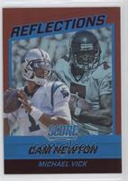Cam Newton, Michael Vick #/50