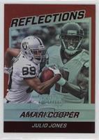 Amari Cooper, Julio Jones #/50