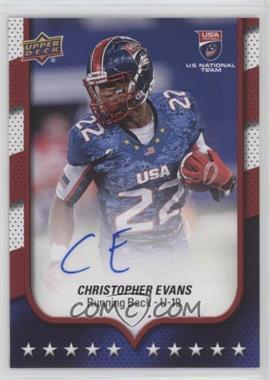 2016 Upper Deck USA Football - [Base] - Autographs [Autographed] #22 - USA U19 - Christopher Evans