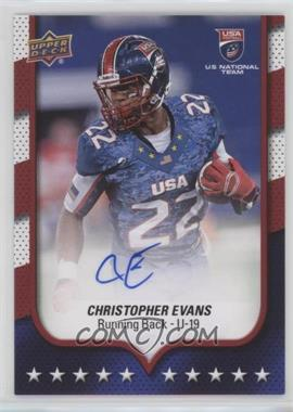 2016 Upper Deck USA Football - [Base] - Autographs [Autographed] #22 - USA U19 - Christopher Evans
