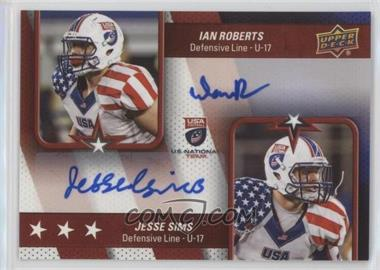 2016 Upper Deck USA Football - USA U17 Dual Autos #DA-SR - Ian Roberts, Jesse Sims