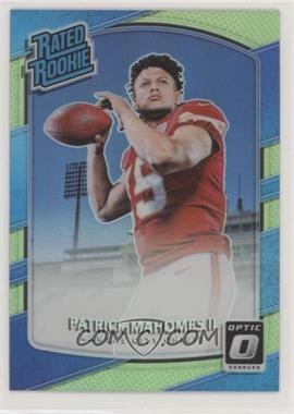 2017 Donruss Optic - [Base] - Lime #177 - Rated Rookies - Patrick Mahomes II