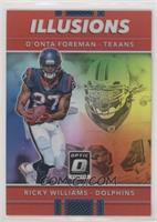 D'Onta Foreman, Ricky Williams #/99