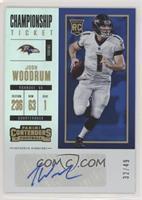 Rookie Ticket/Rookie Ticket Variation - Josh Woodrum #/49