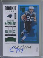Rookie Ticket RPS - Christian McCaffrey /23