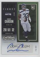 Rookie Ticket - Chris Carson /99