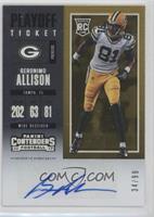 Rookie Ticket/Rookie Ticket Variation - Geronimo Allison #/99