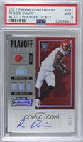 Rookie Ticket/Rookie Ticket Variation - Reggie Davis [PSA 9 MINT] #/99