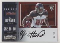 Rookie Ticket Variation RPS - O.J. Howard #/15