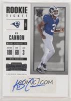 Rookie Ticket/Rookie Ticket Variation - KD Cannon