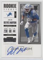 Rookie Ticket/Rookie Ticket Variation - Jalen Reeves-Maybin
