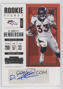 2017 Panini Contenders - [Base] #230 - Rookie Ticket/Rookie Ticket Variation - De'Angelo Henderson