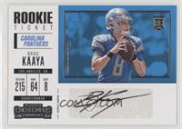 Rookie Ticket/Rookie Ticket Variation - Brad Kaaya