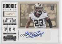Rookie Ticket/Rookie Ticket Variation - Marshon Lattimore