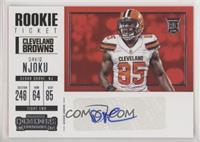 Rookie Ticket/Rookie Ticket Variation - David Njoku