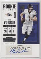 Rookie Ticket/Rookie Ticket Variation - Josh Woodrum