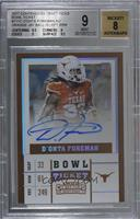 College Ticket Variation - D'Onta Foreman (Orange Jersey, Ball in Left Arm) [BG…