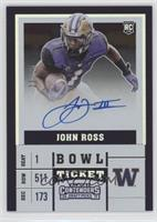 College Ticket Variation - John Ross (Purple Jersey, Ball in Right Arm) #/25