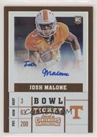College Ticket - Josh Malone #93/99