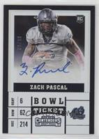 College Ticket - Zach Pascal /99