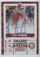 College Ticket - O.J. Howard (Red Jersey) #/23