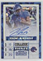 College Ticket - Jeremy McNichols /23