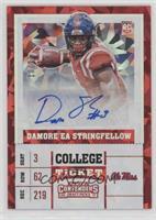 College Ticket - Damore'ea Stringfellow #/23
