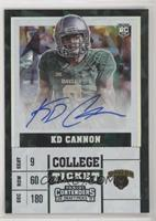 College Ticket - KD Cannon #/23