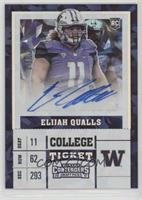 College Ticket - Elijah Qualls #/23