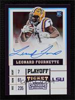 College Ticket - Leonard Fournette #/15