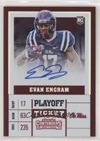 College Ticket - Evan Engram (Blue Jersey) #/15