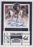 College Ticket - Davis Webb (Holding Ball Over Chest)